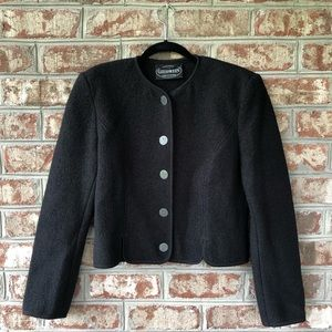 Giesswein Black Boiled Wool Button Down Jacket 6